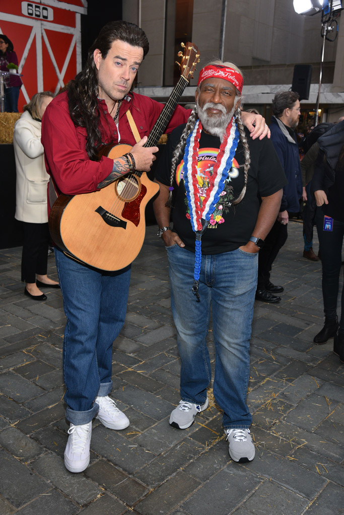 carson daly, billy ray cyrus, al roker, willie nelson, today show halloween 2017