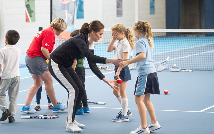 Catherine Duchess of Cambridge visits the Lawn Tennis Association, London, UK, 31 Oct 2017