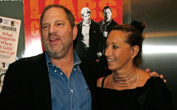 Harvey Weinstein and Donna Karan in