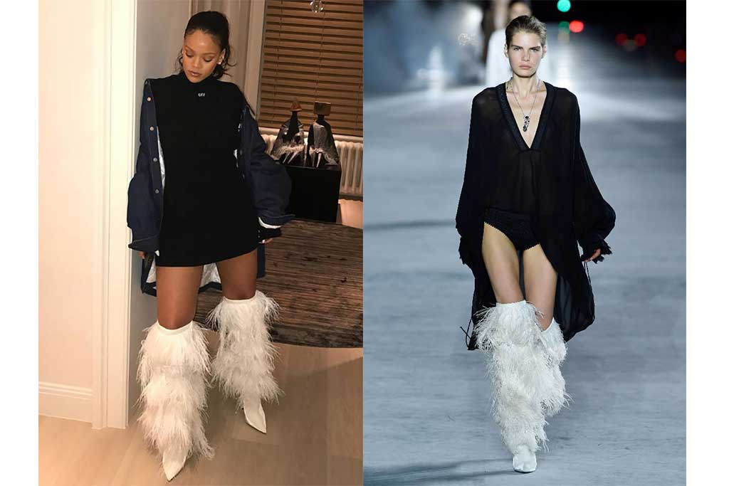 Rihanna and Saint Laurent spring 2018.