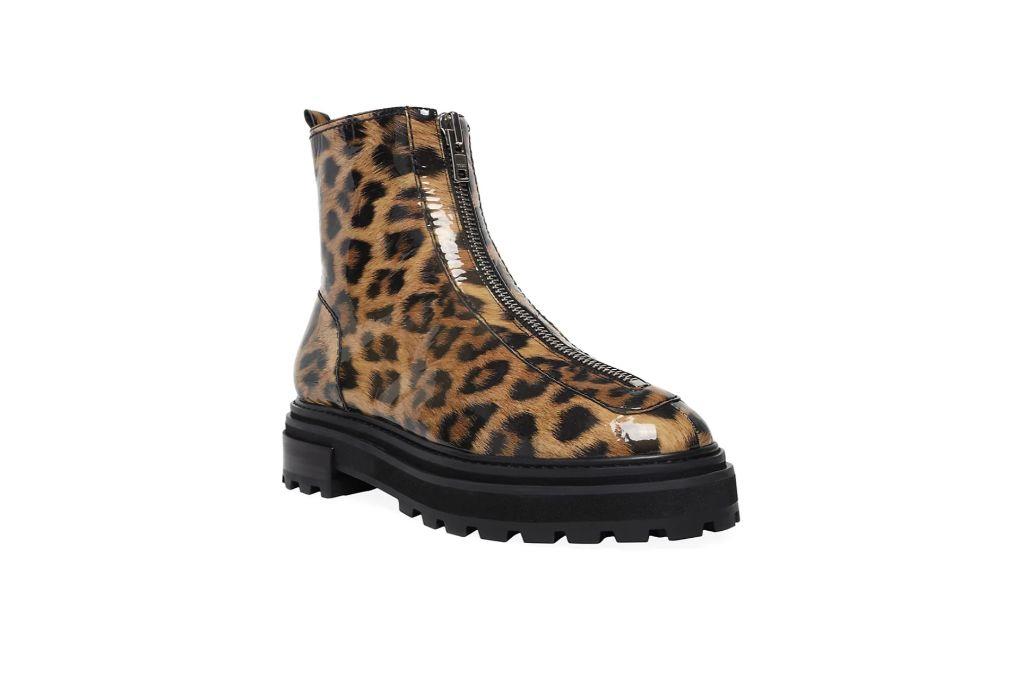 Schutz, Leopard Print Boots, Combat Boots