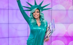 Wendy Williams dressed as the Statue