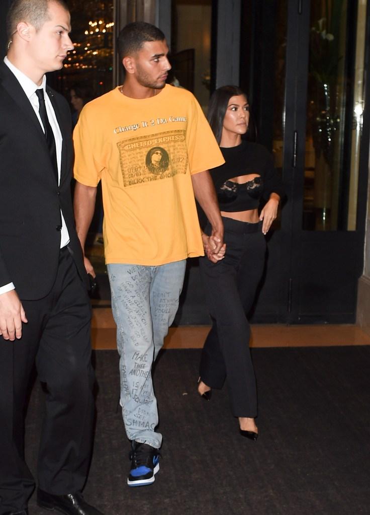Kourtney Kardashian and Younes Bendjima out for a date night