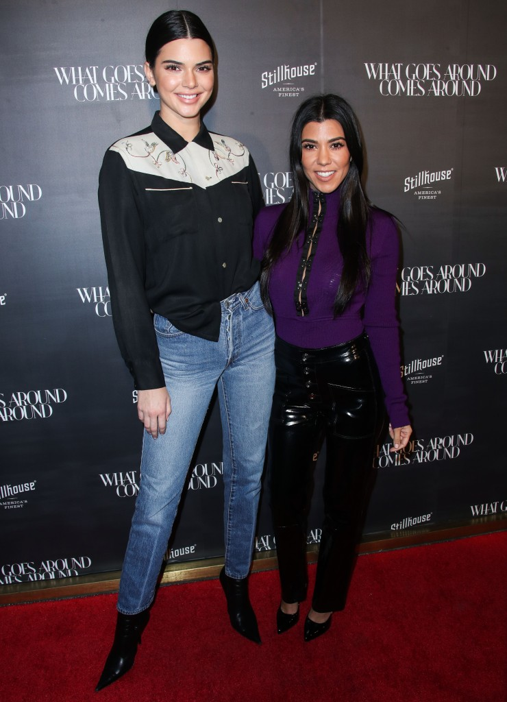 Kendall Jenner and Kourtney Kardashian on a sisters' night out.