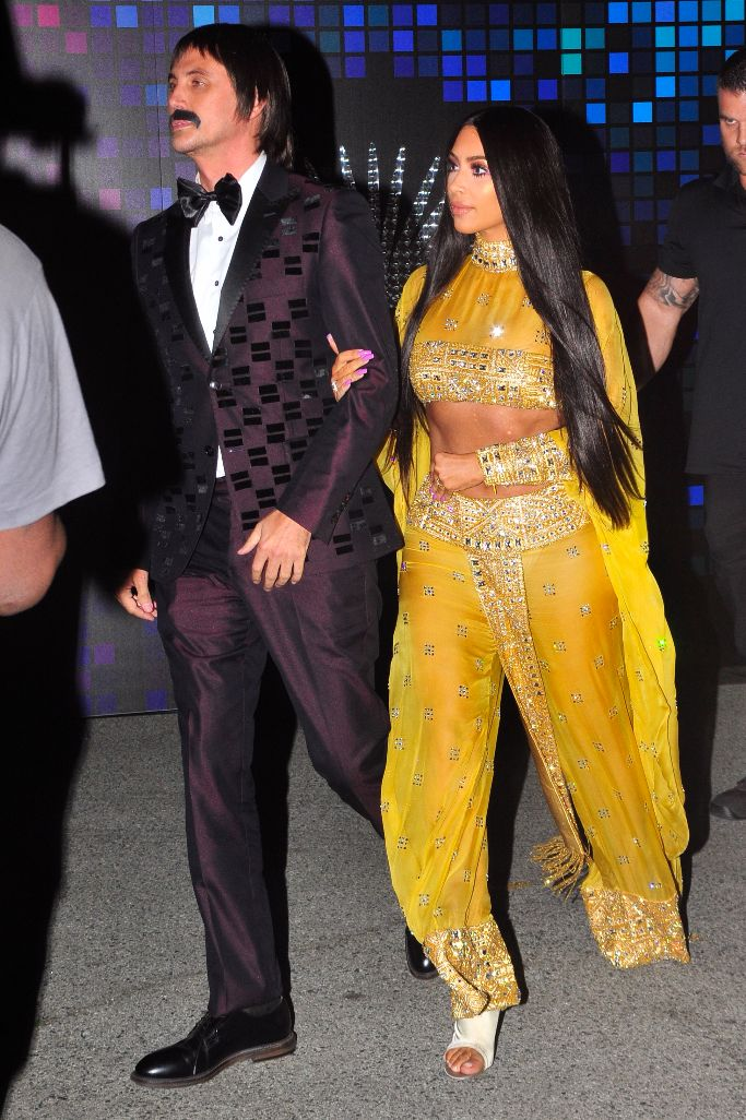 Kim Kardashian and Jonathan Cheban arrive at Casamigos' annual Halloween bash