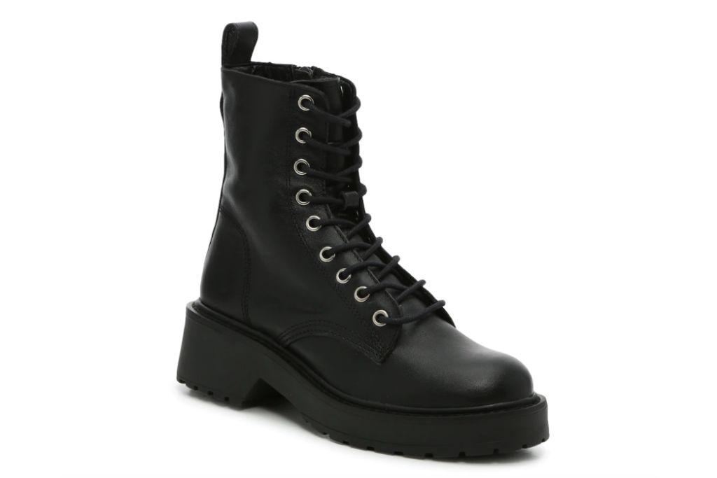 steve madden, tornado combat boot, combat boots for women