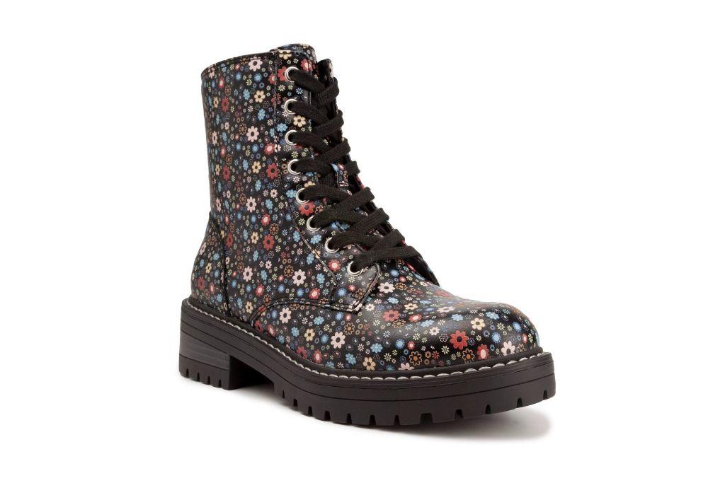 Sugar, Floral Boots, Combat Boots