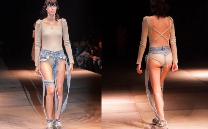 Thong jeans, New Balance, Tokyo Fashion Week