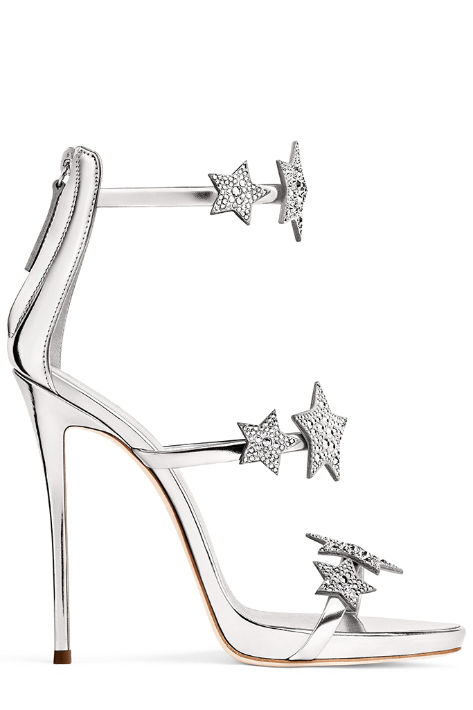 giuseppe zanotti, holiday 2017, stars capsule collection, sandals