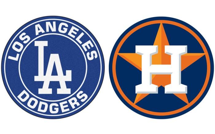 World Series 2017 Dodgers Astros logos