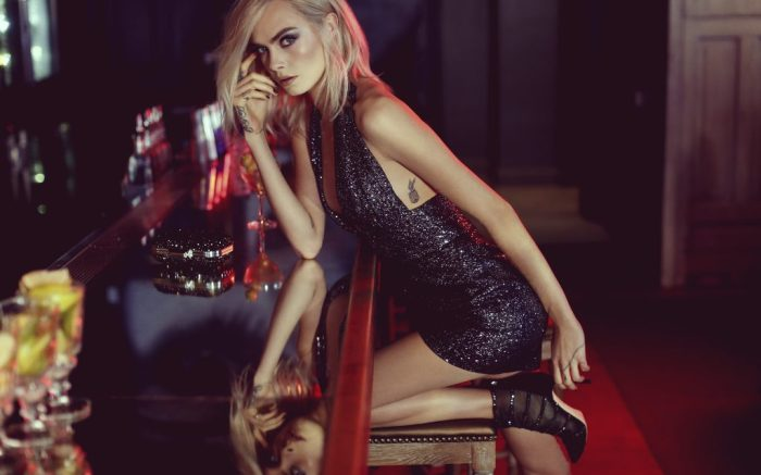 """Jimmy Choo's """"Shimmer in the Dark"""" campaign featuring Cara Delevingne"""