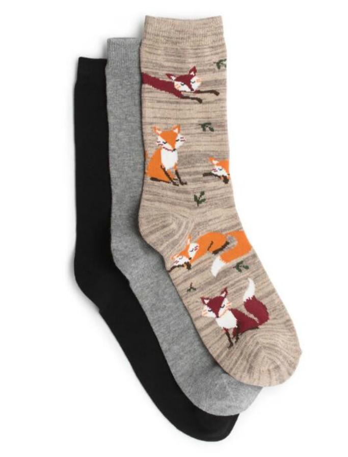 gh bass and co fox socks