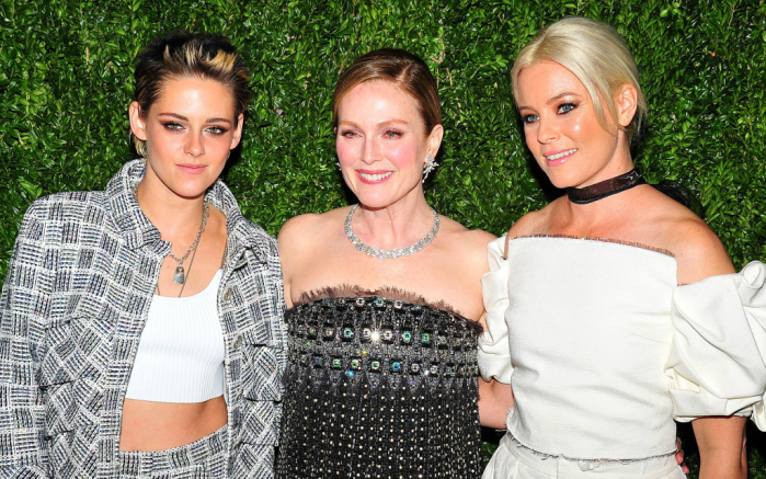 Kristen Stewart, Julianne More and Elizabeth Banks at the 2017 Museum of Modern Art Film Benefit