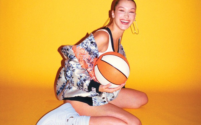 Bella Hadid cover shoot for Footwear