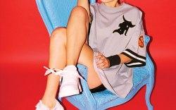Bella Hadid in the Nike AF100