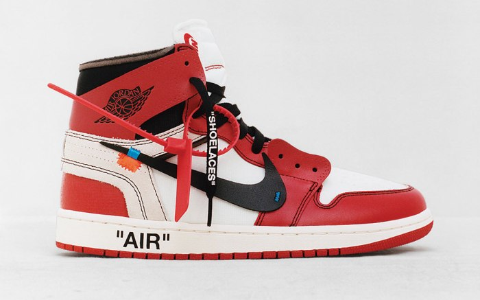 Virgil Abloh Air Jordan 1 Nike The Ten
