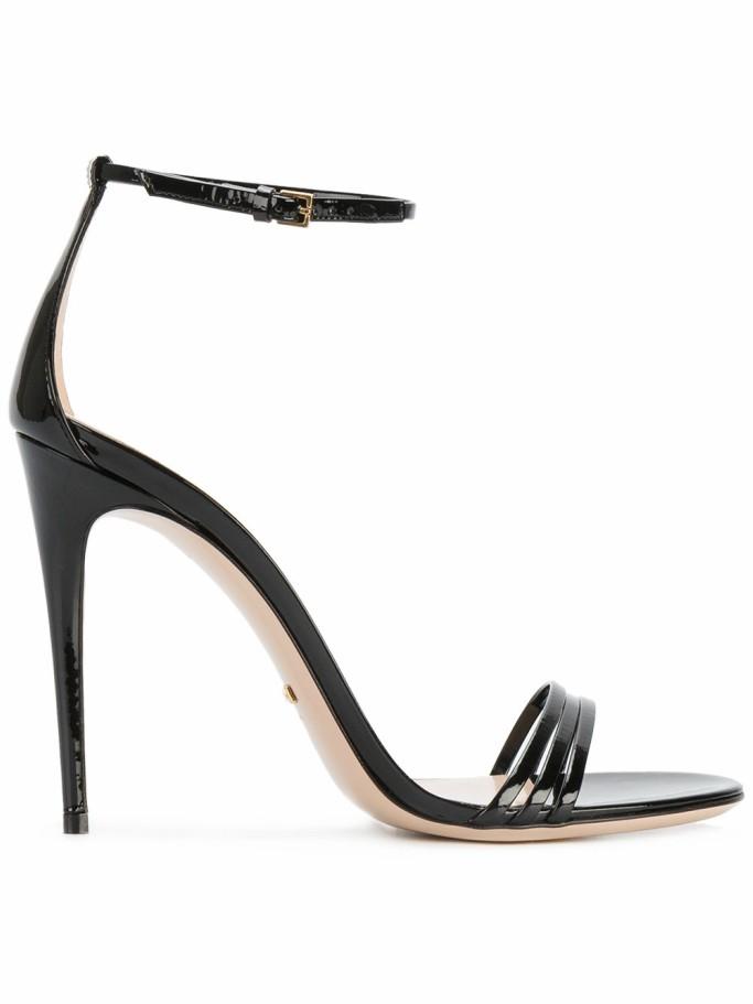 gucci patent sandals