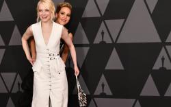Jennifer Lawrence and Emma Stone on