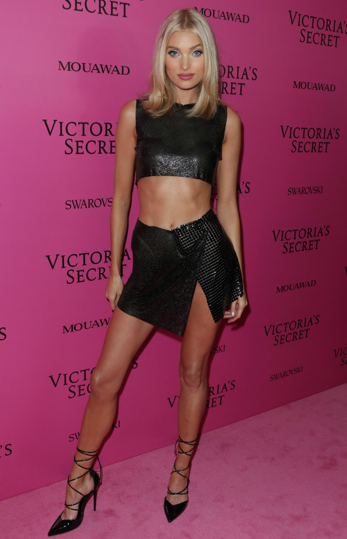 elsa hosk wearing prettylittlething heels, victoria's secret fashion show 2017 after party