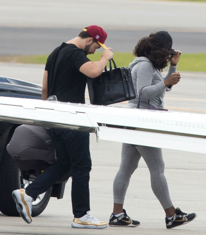 Serena Williams and Alexis Ohanian, nike sneakers