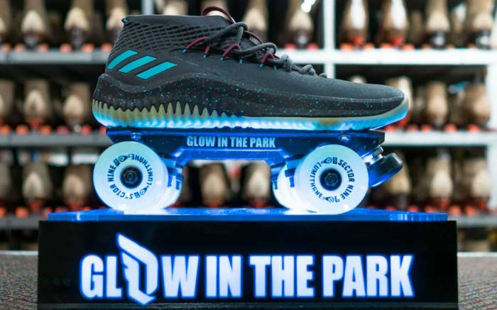 Adidas Dame 4 Glow in The Park Sneaker Skate