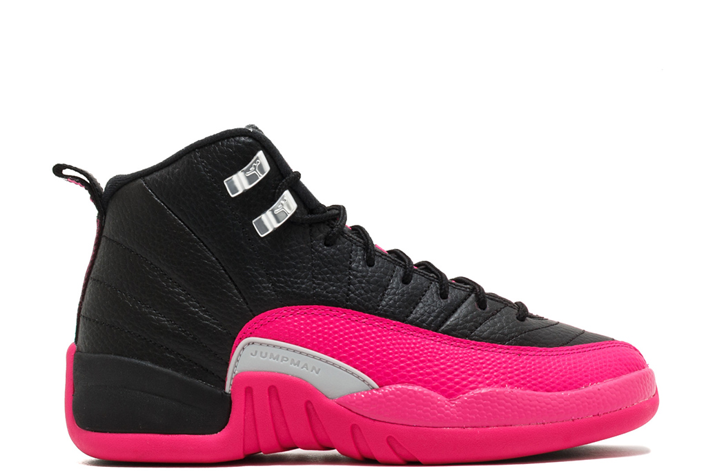 air jordan 12, retro, deadly pink, black