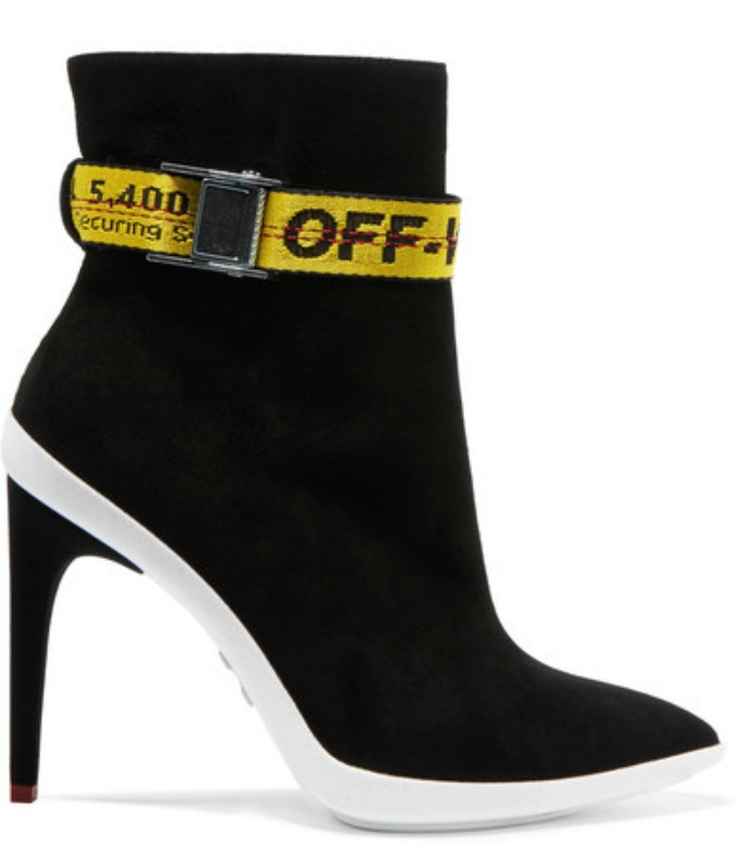 Off-White Grosgrain-trimmed Ankle Boots