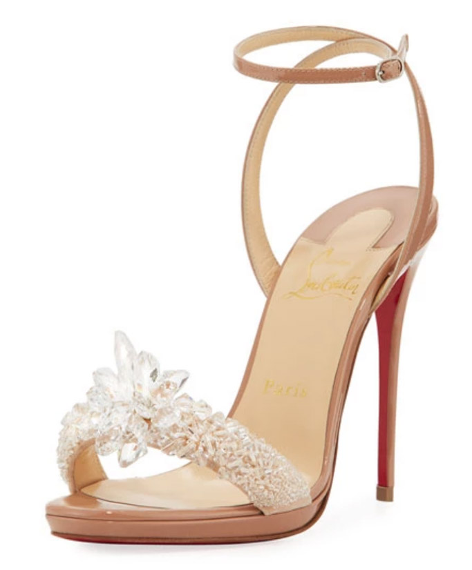 christian louboutin crystal queen sandals