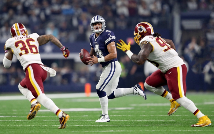 Dallas Cowboys Dak Prescott Thanksgiving Day 2016