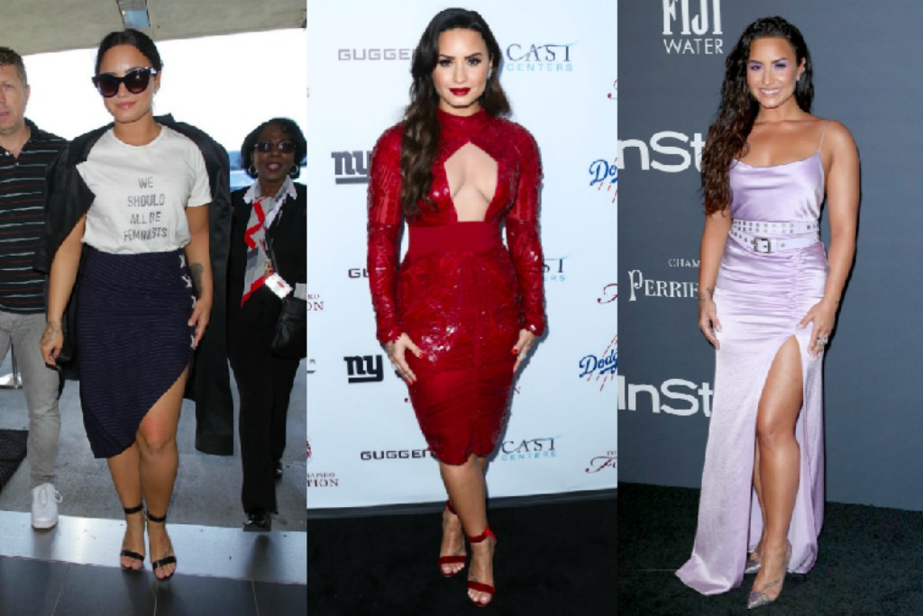 Demi Lovato wearing Gianvito Rossi sandals