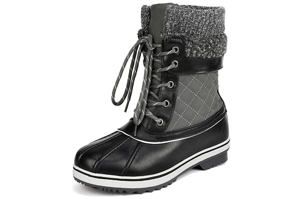 DREAM PAIRS Women's Mid Calf Winter Snow Boots, best winter boots for women, womens winter boots