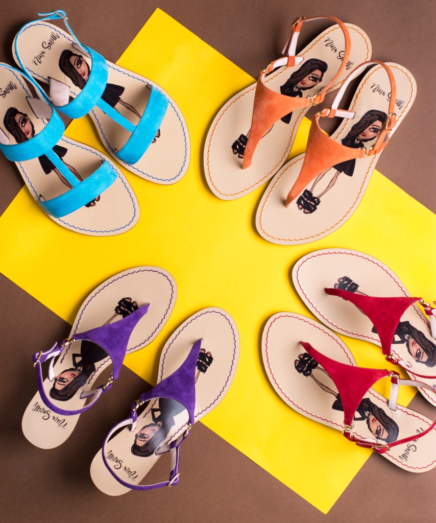 Nina Smith sandals in different color combinations.