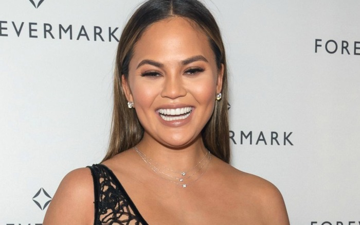 Chrissy Teigen attends Forevermark Diamonds Tribute Collection launch.