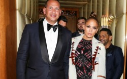 Alex Rodriguez and Jennifer Lopez attend