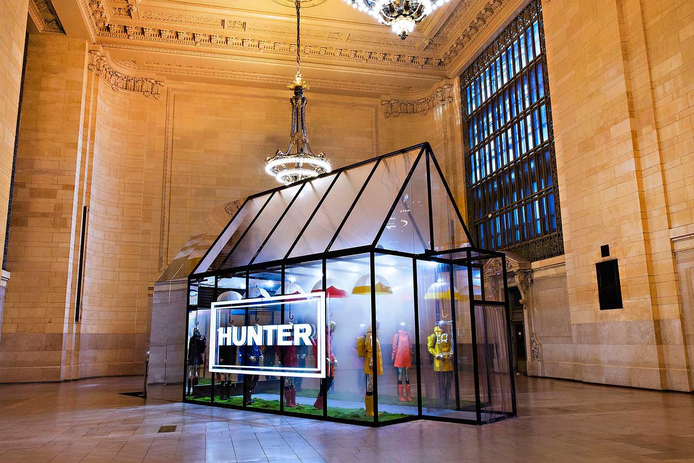 The Hunter installation in New York