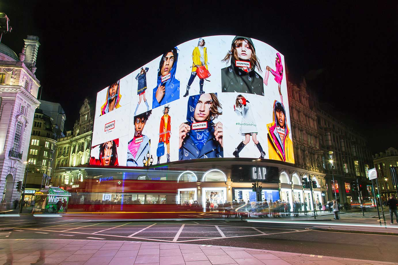 The Hunter advert on London's Piccadilly Circus Lights