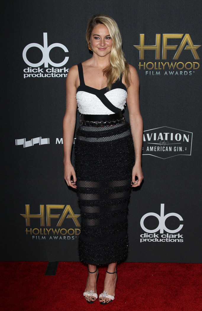 2017 hollywood film awards, red carpet, Shailene Woodley, christian louboutin crystal queen