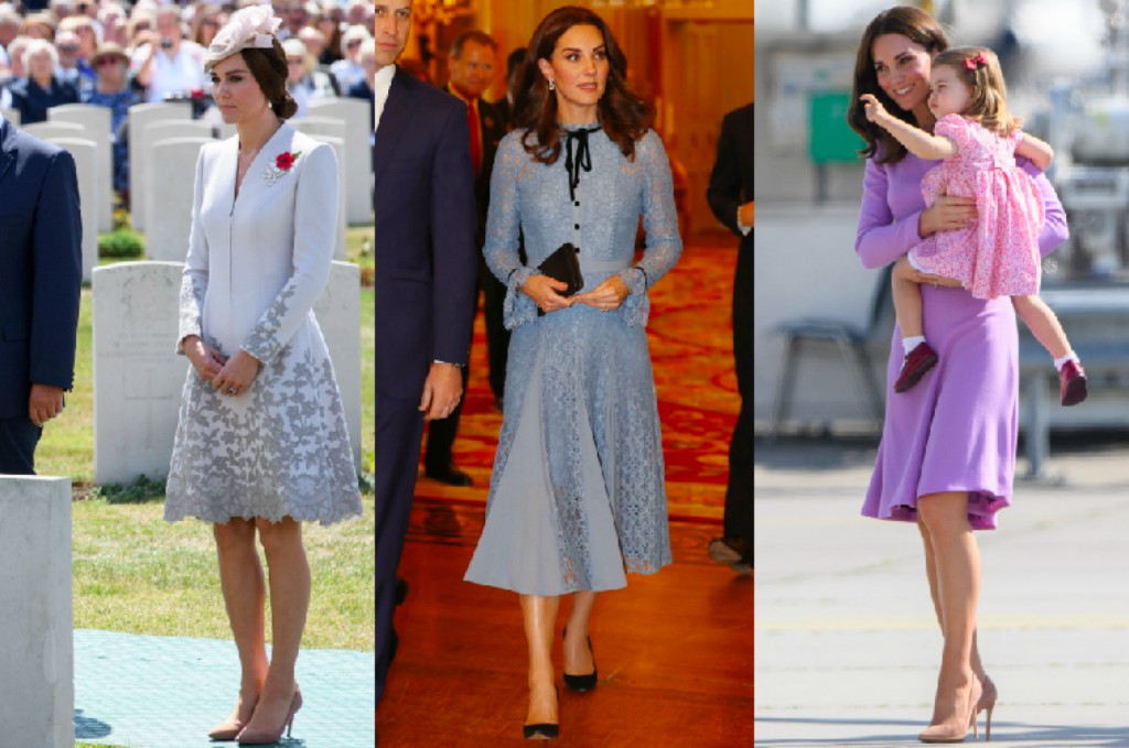 Kate Middleton wearing Gianvito Rossi pumps