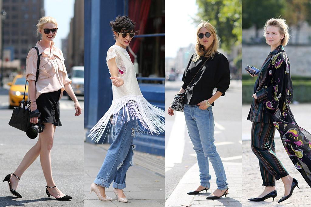 kitten heels, street style