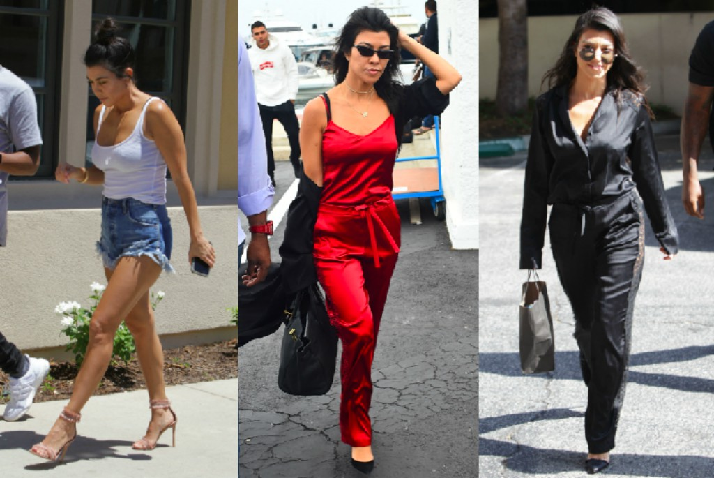 Kourtney Kardashian wearing Gianvito Rossi pumps