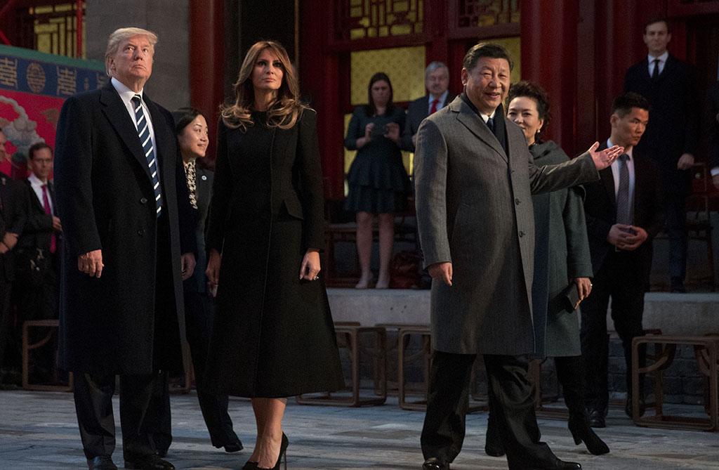 Melania Trump, Donald Trump, Xi Jinping, Peng Liyuan, Trump Asia Trip
