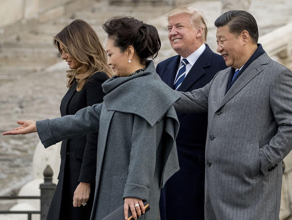 Donald Trump, Melania Trump, Xi Jinping, Peng Liyuan, Trump Asia Trip
