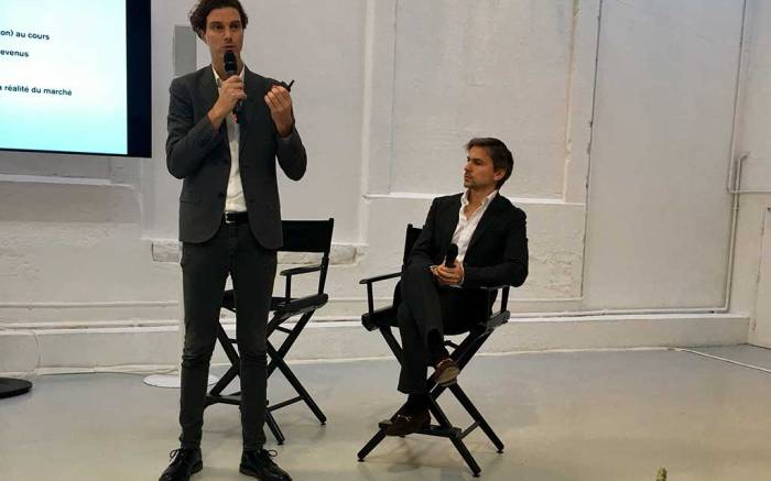 IFM director of programming Franck Delpal and Matches Fashion CEO Ulrich Jerome