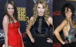 Miley Cyrus, Taylor Swift, Rihanna
