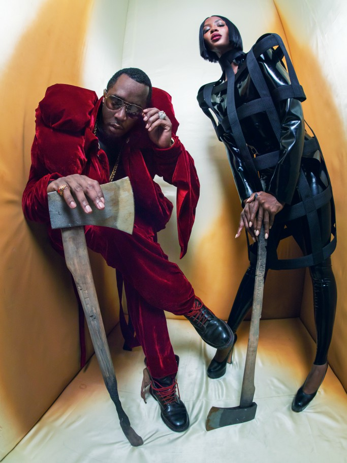 Sean 'Diddy' Combs and Naomi Campbell for pirelli calendar 2018