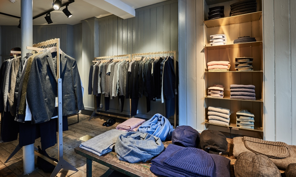Inside the Officine Générale store in London