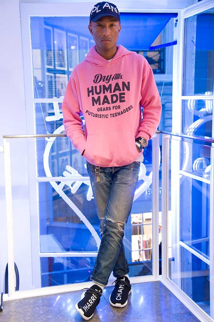 Pharrell Williams Chanel Adidas Colette sneaker launch