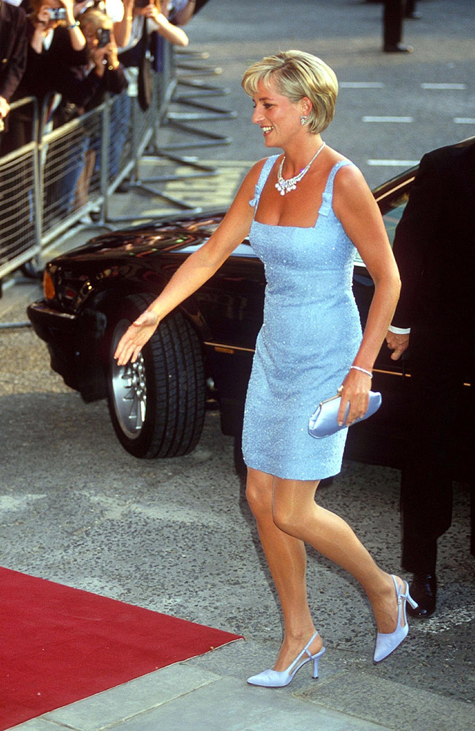 princess diana, kitten heels, slingback heels
