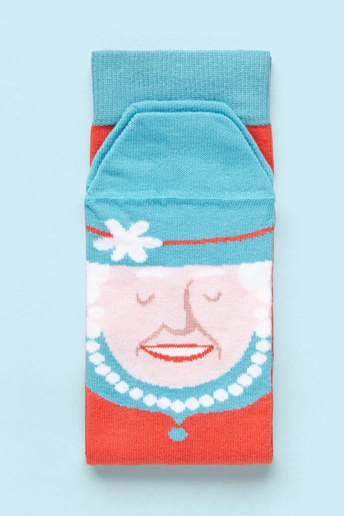 Chattyfeet Queen Elizabeth sock