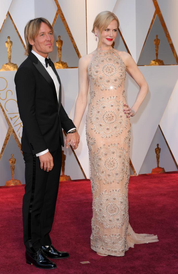 Nicole Kidman and Keith Urban at the 89th Annual Academy Awards